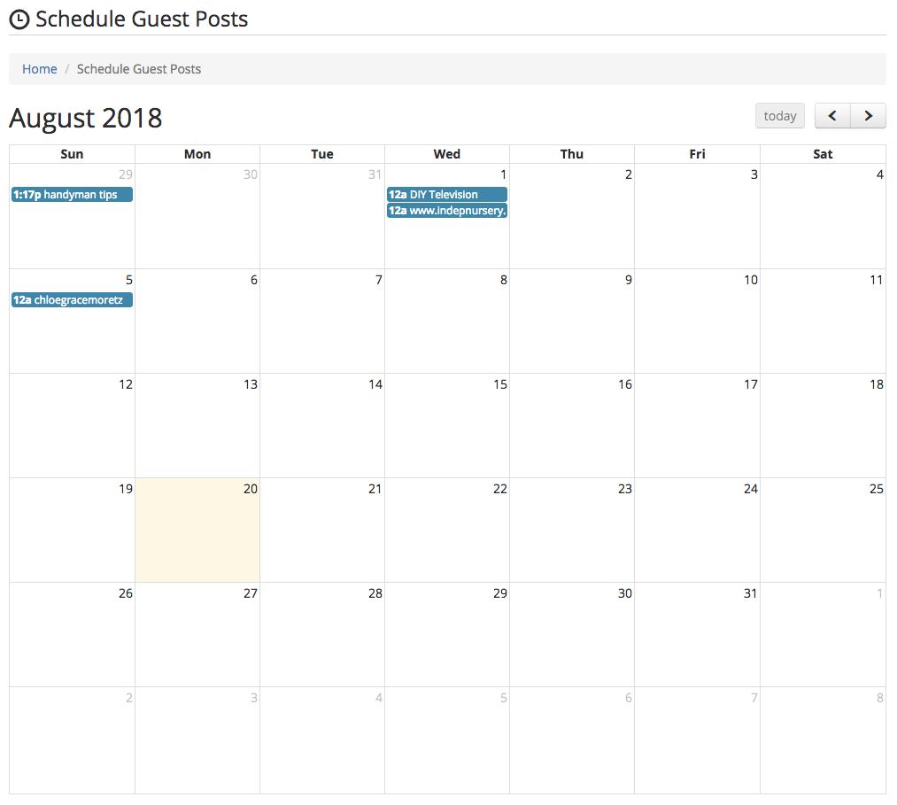 schedule guest posts